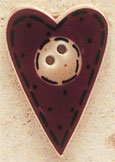 43024 - Folk Heart with Buttons - 3/4in x 1 1/8in
